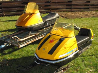 71 and 72 olympique these sleds featured a plastic hood big mistake